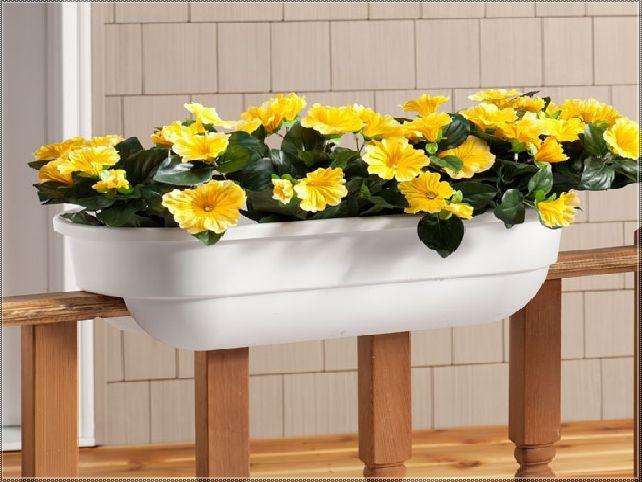 plastic flower boxes for deck railings
