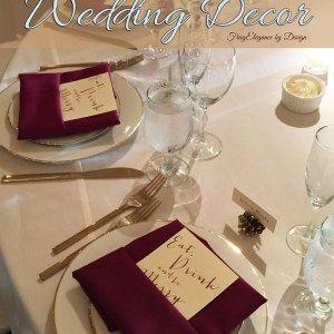 DIY Wedding Decor -Frug-Elegant Style