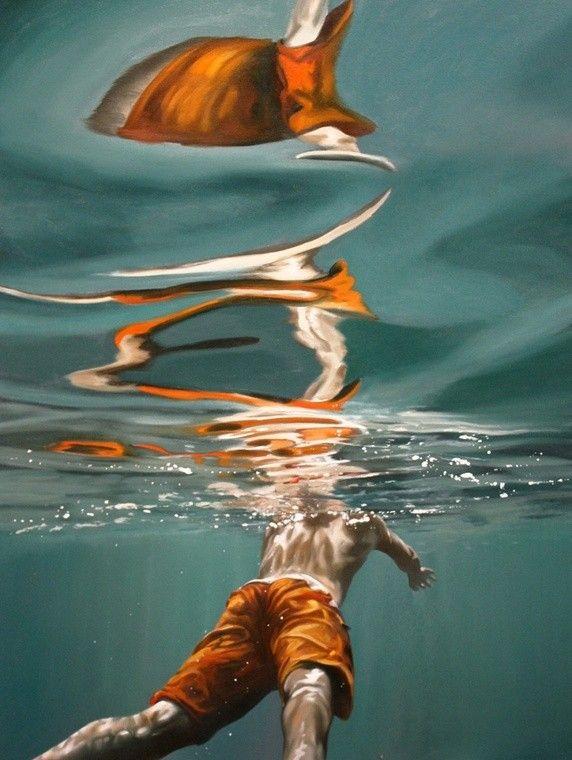 f9bdd660d1 Realistic Underwater Paintings by Eric Zener - Quora   Artist.Oil ...