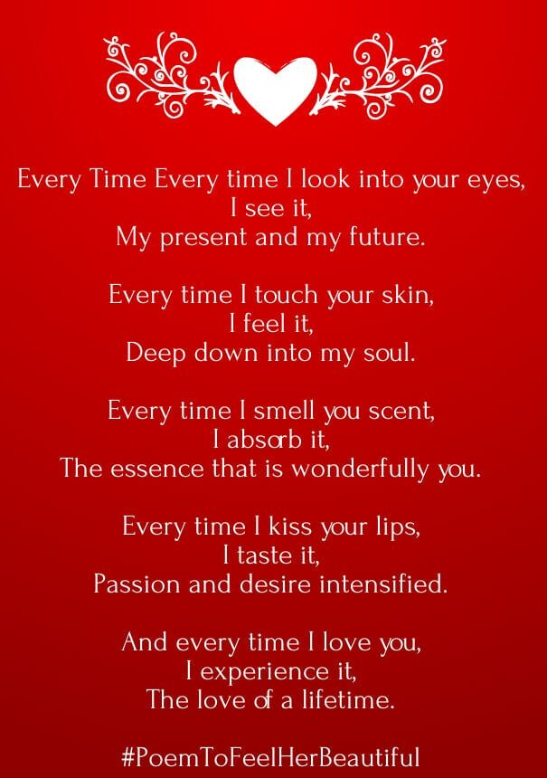 Your amazing poems for her