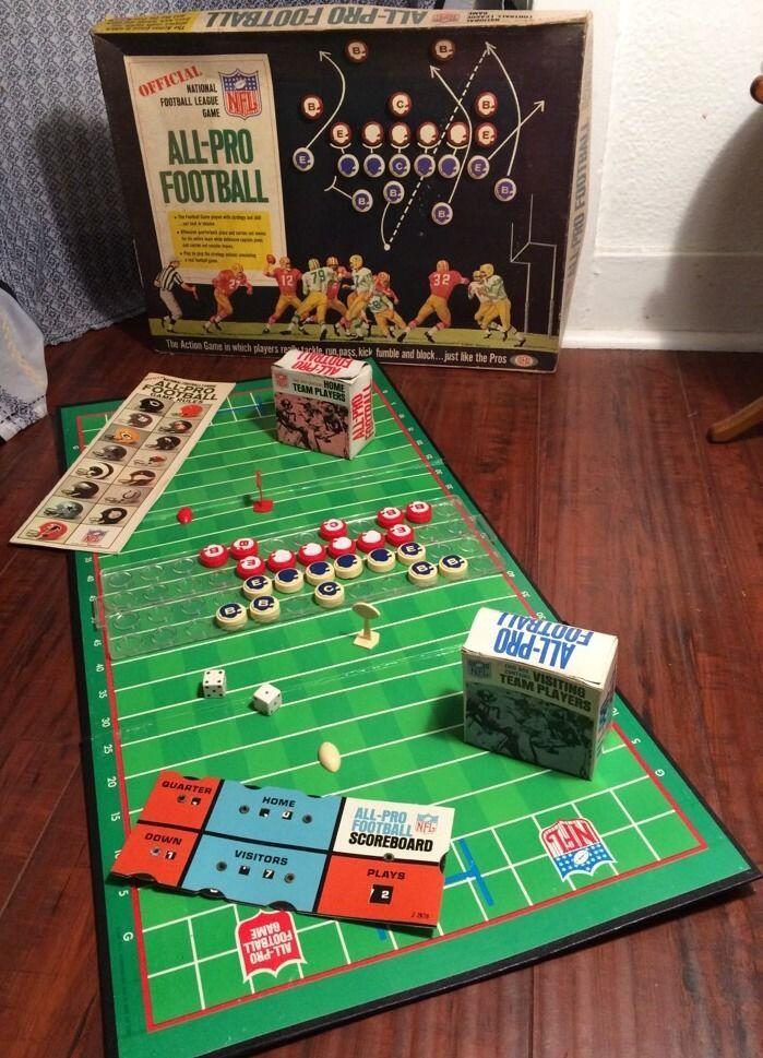 AllPro Football Board Game Vintage board games, Games
