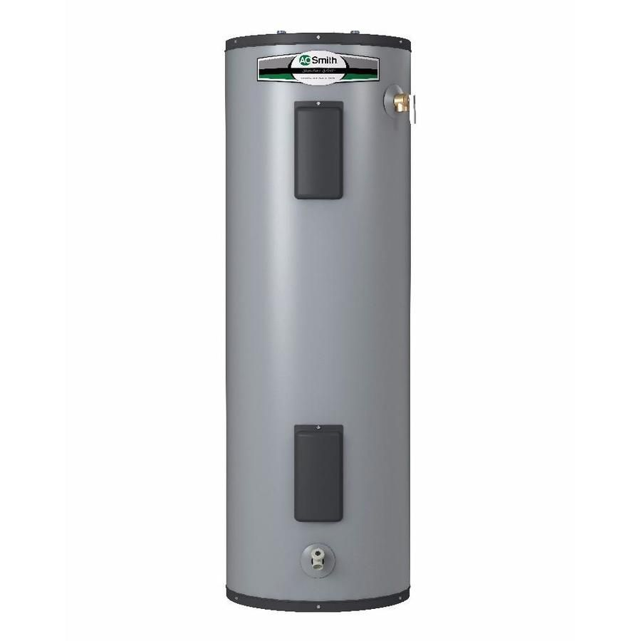 A O Smith Signature Select 55 Gallon Tall 9 Year Limited 5500 Watt Double Element Electric Water Heater Lowes Com In 2020 Electric Water Heater Water Heater Heater