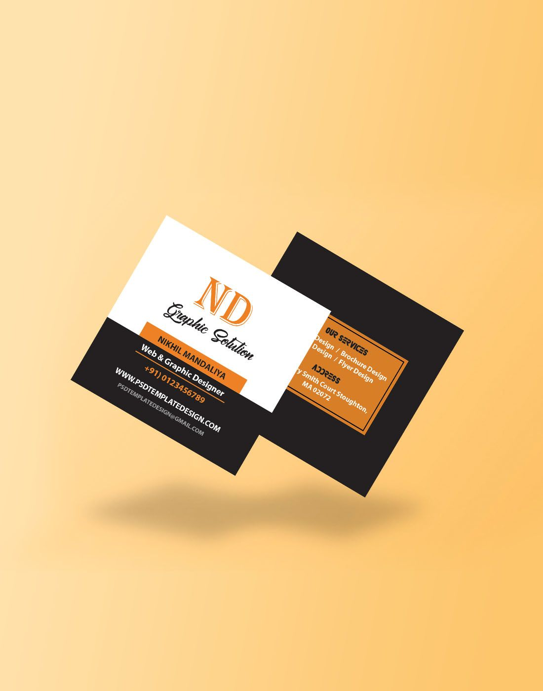 business square card template  modern business cards