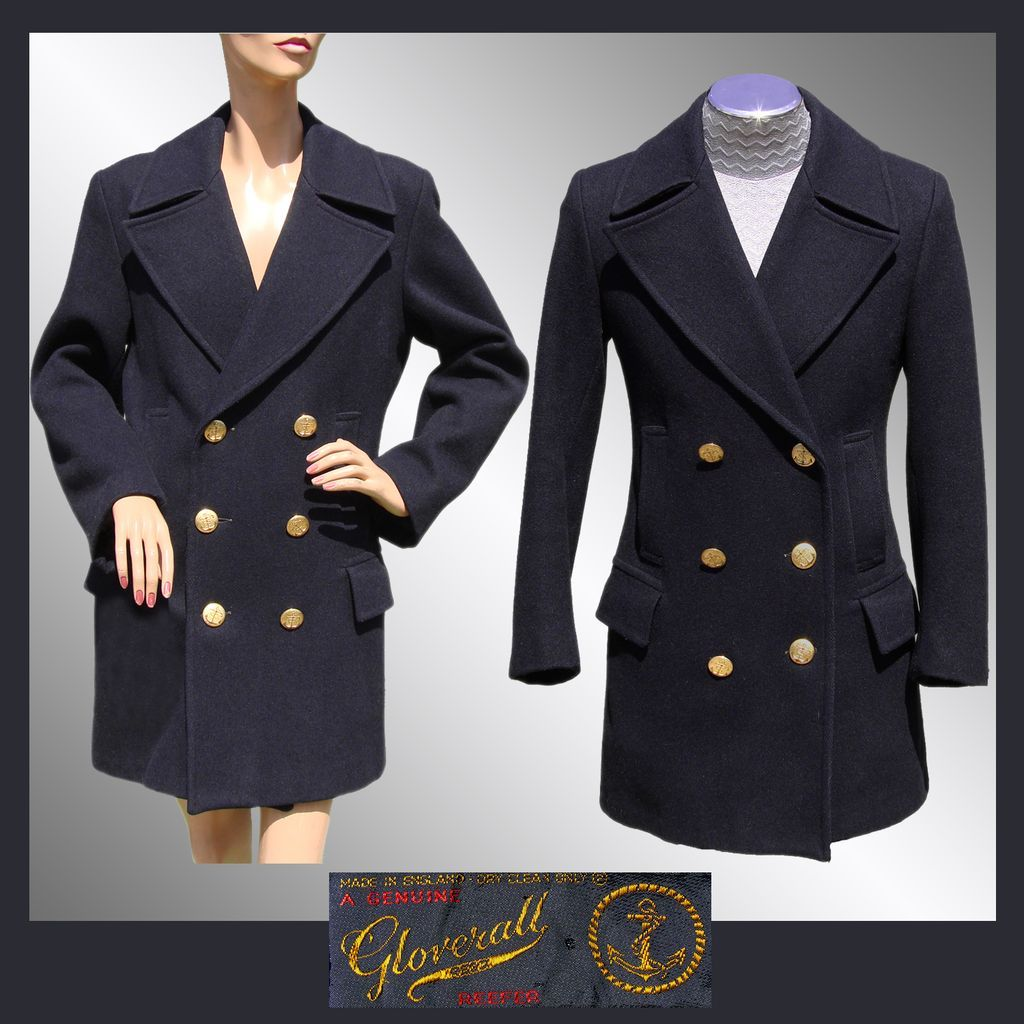 60e0b45df Vintage Gloverall Naval Reefer Coat // 1960s Navy Blue Pea Jacket ...