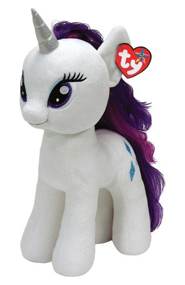 Girl s TY Toys  Rarity - Large  Plush Toy. Ty My Little Pony ... a395ea8d1dff