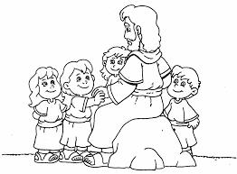 Resultado De Imagen Para Dibujos De Jesus Y Los Ninos Para