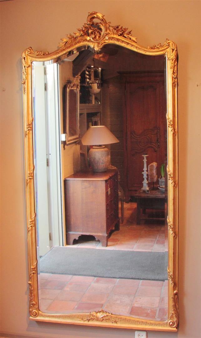 Grosser Antikes Blattgold Spiegel Antike Spiegel Antike Franzosische Spiegel Antike Blattgold Spiegel Antiker Spiegel Spiegel Antik Antiquitaten Spie