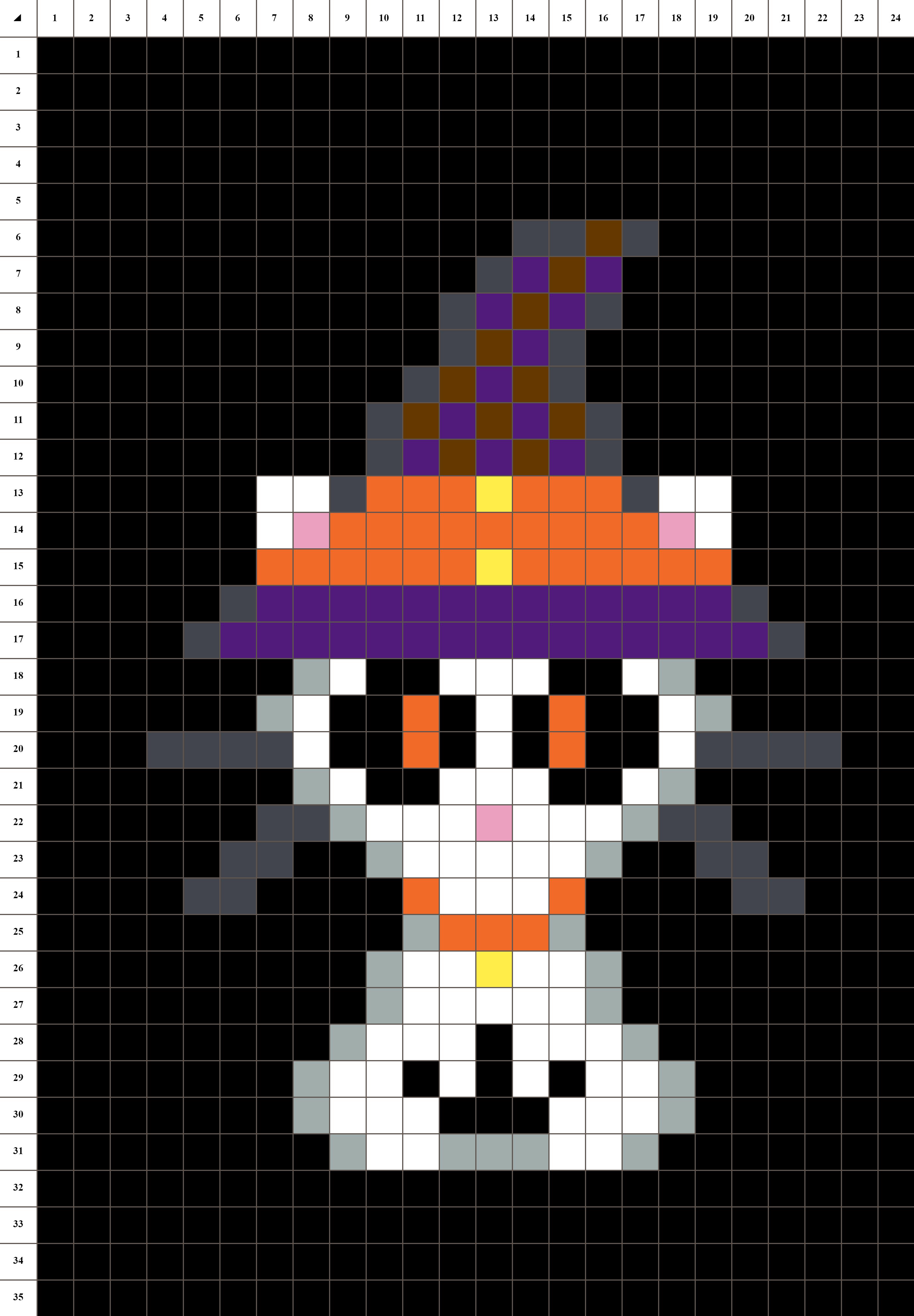 épinglé Sur Pixel Art Grilles