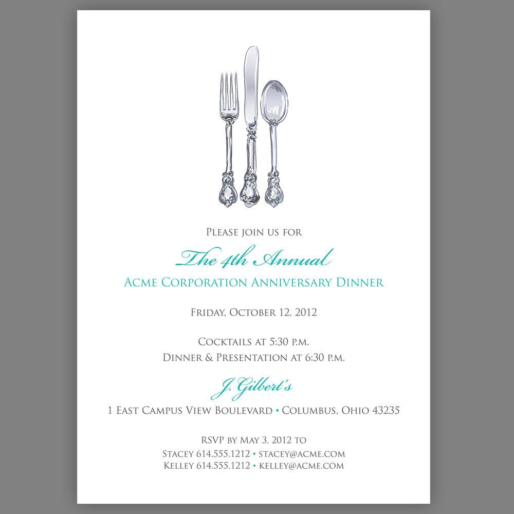 Corporate Dinner Invitation Company Dinner Invitation Fundraiser – Business Invitation Templates