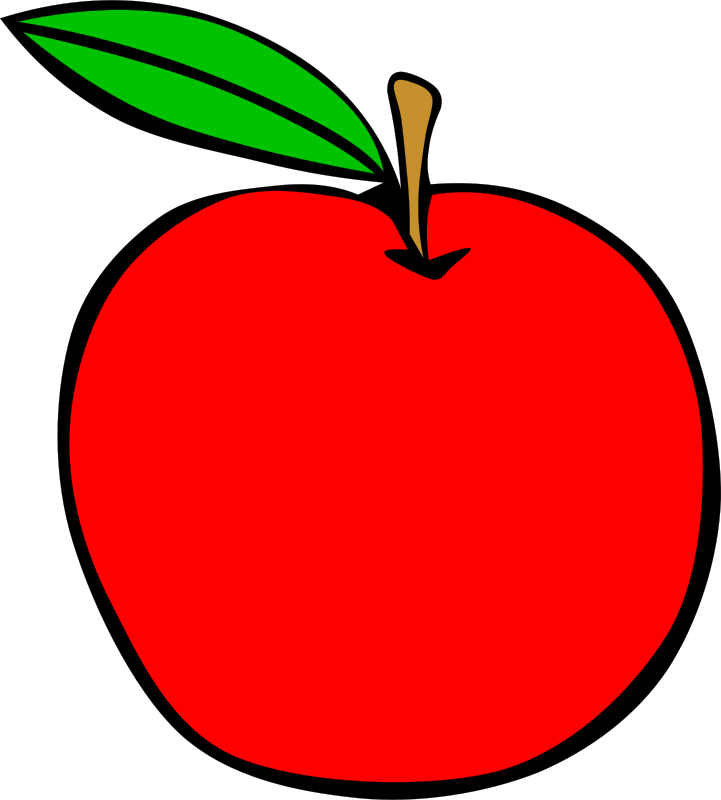 simple fruit apple by gerald g apple clip art clipart food rh pinterest com apple clip art image apple clipart images