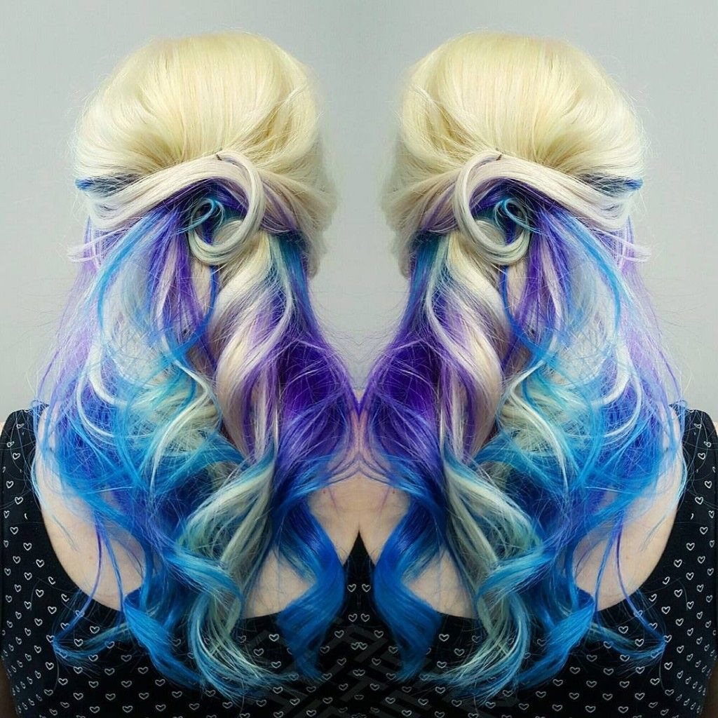 Purple hair page 9 of 59 936 free hair color pictures amazing mermaid splash hair color that goes from bleached blonde to deep purple to blue created by jaymz hairdressing in norfolk england pmusecretfo Images