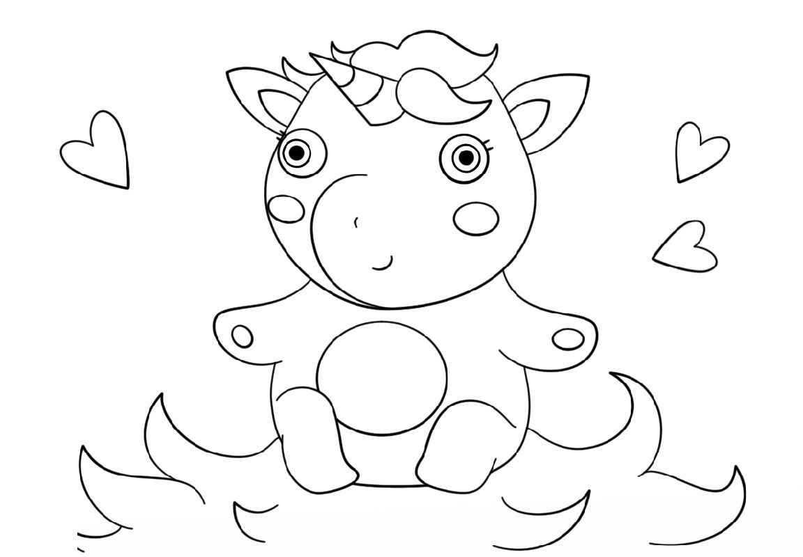 Cute Baby Unicorn Coloring Pages | K5 Worksheets | Unicorn ...