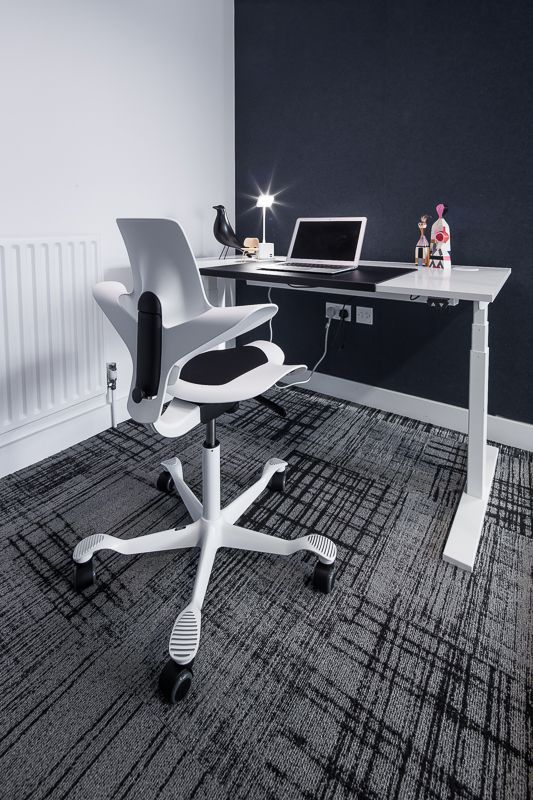 Sb Seating Hag Capisco In White Complements The Holmrisonline Dk Holmris Us Table In Our Focus Room Acc Chair Standard Desk Height Commercial Office Furniture