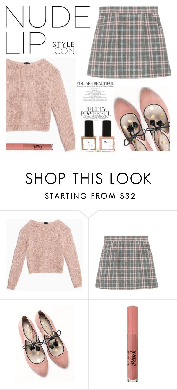 """""""Nude Kiss"""" by anandarush ❤ liked on Polyvore featuring Max&Co., Boden, ncLA and nudelip"""
