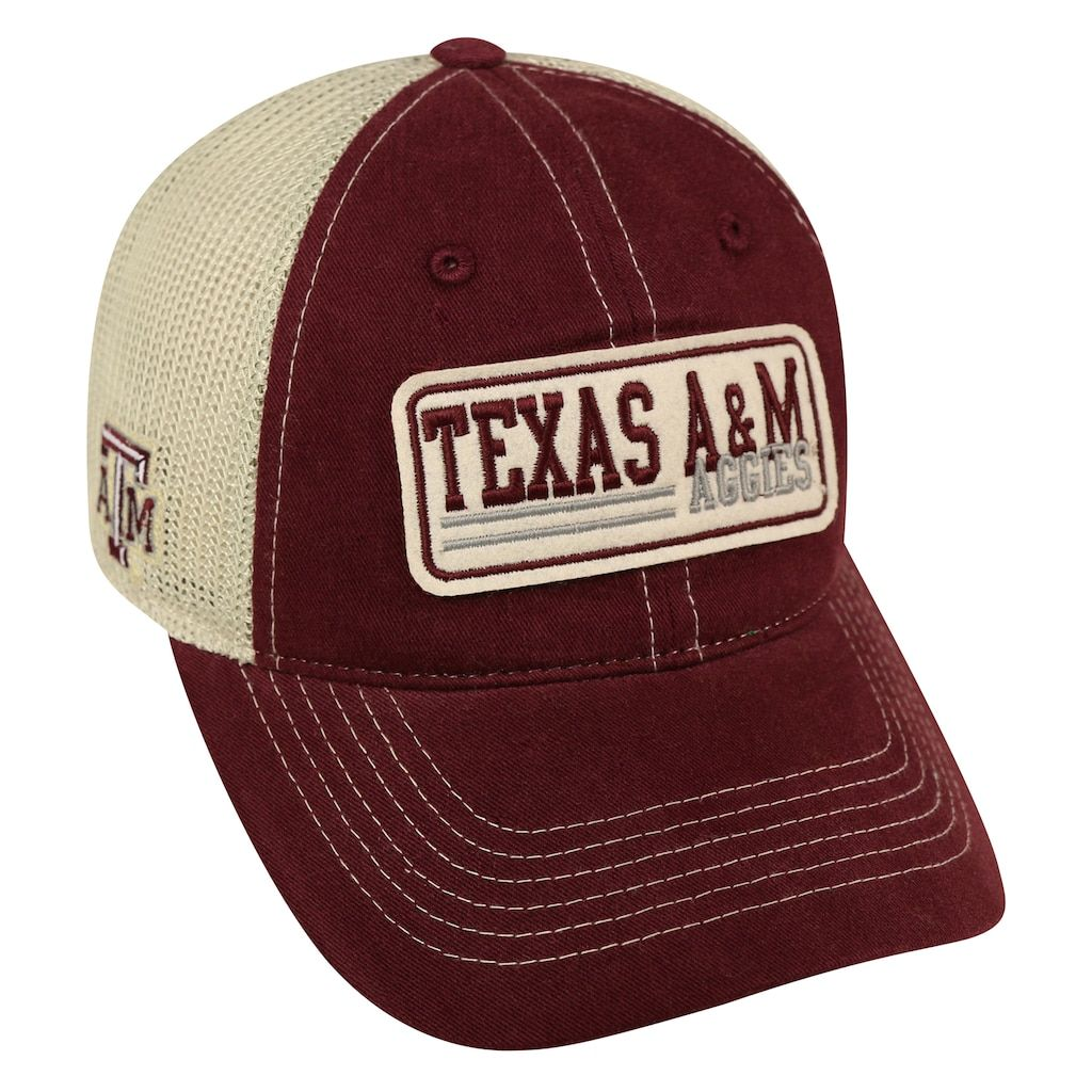 0ab33c2bbd001 Adult Top of the World Texas A M Aggies Patches Adjustable Cap ...