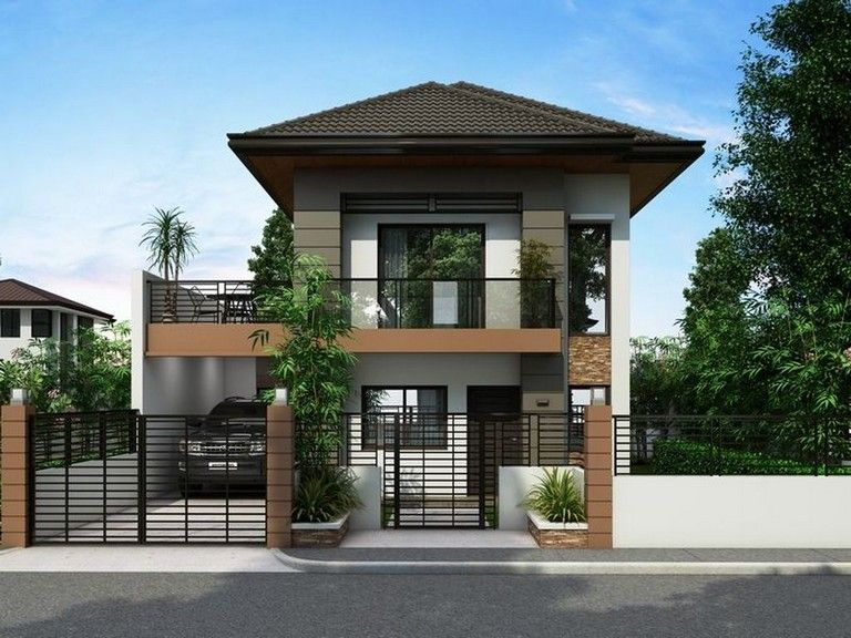 41 Awesome Simple House With Warm Wooden Interior Philippines House Design Simple House Design 2 Storey House Design