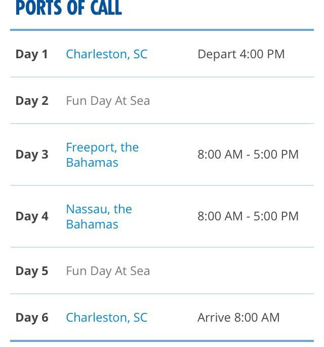 Also Day Bahamas Carnival Fantasy Leaving Charleston Sc Island - Cruises leaving from charleston