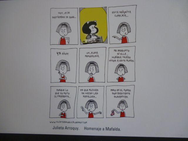 Homenaje a Mafalda por Julieta Arroquy