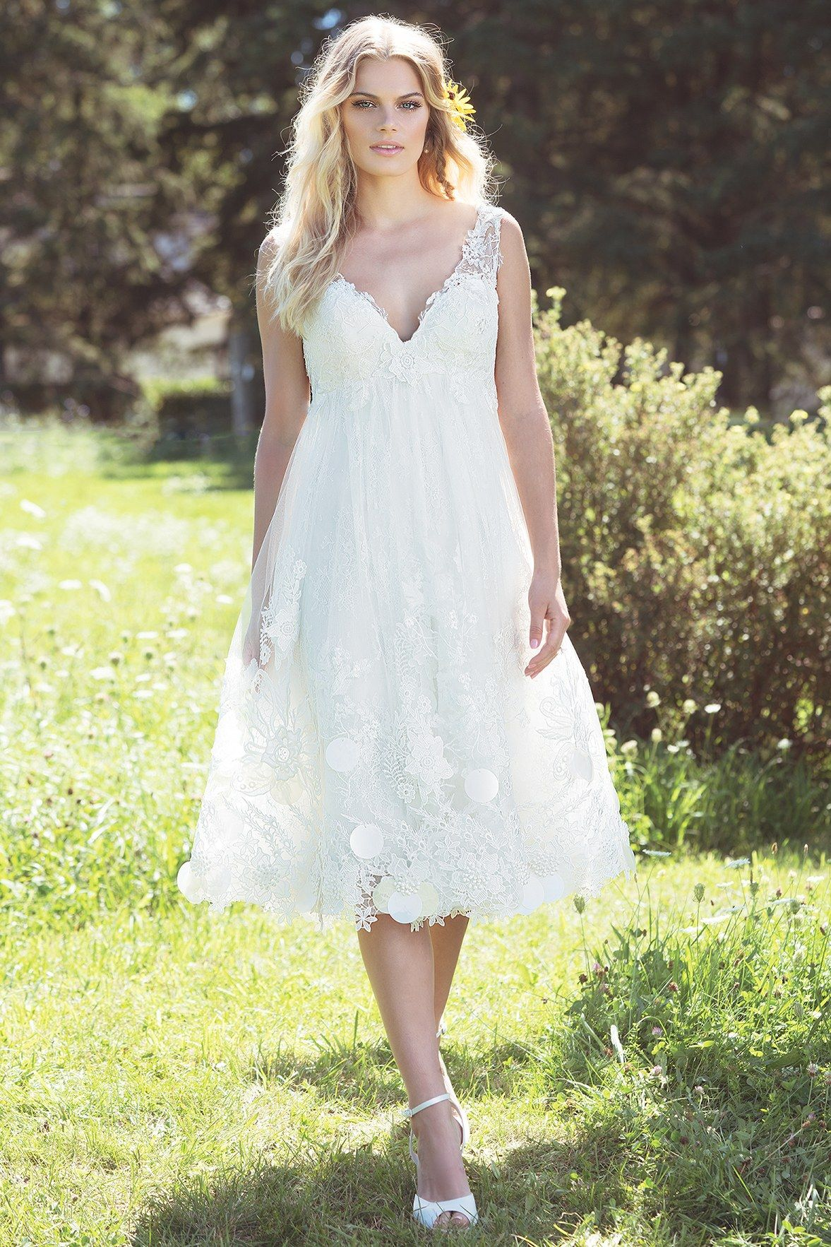 Rosalia\'s wedding dress Feel whimsical in playful lace baby doll ...