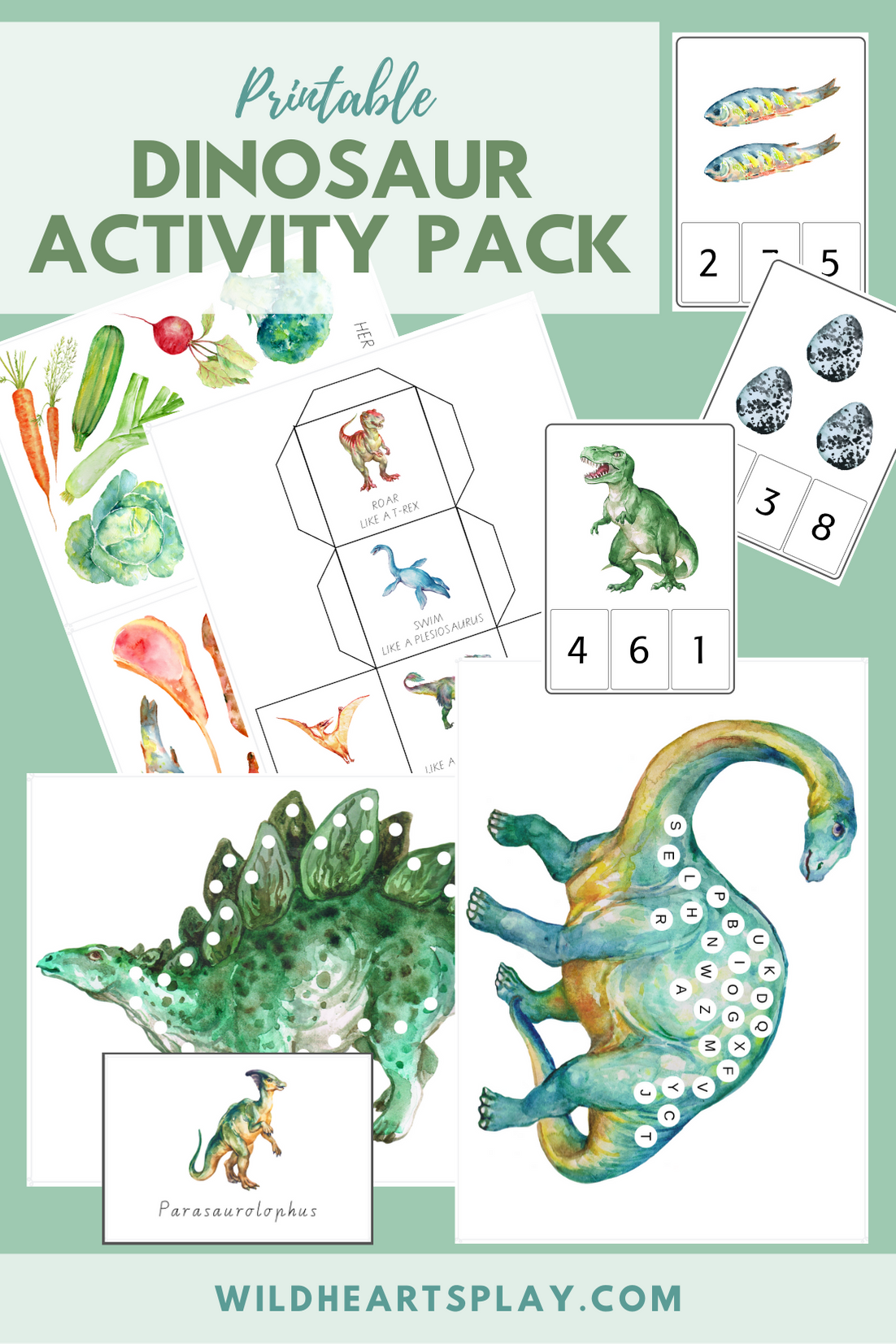 Printable Dinosaur Activity Pack For Kids