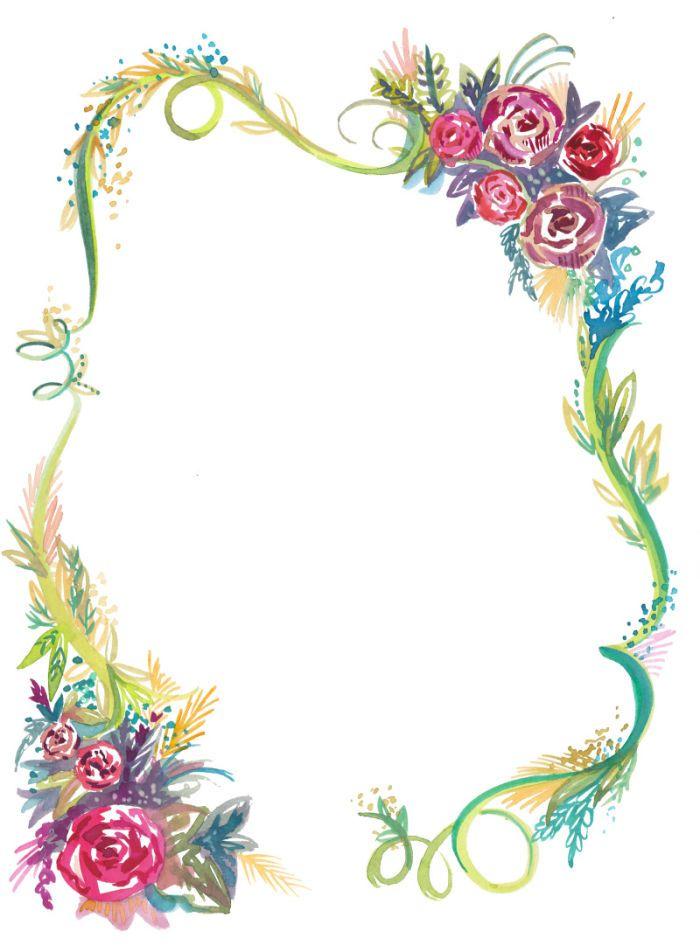 Pin de I T en Borders/Frames - Flowers | Pinterest | Marcos, Marcos ...