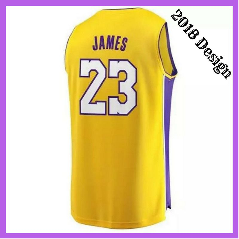 fc6a81bed08 Los Angeles Lakers LeBron James  23 Basketball Jersey Stitched Sewn S-2XL  Yellow  Swingman  Jerseys  LosAngelesLakers