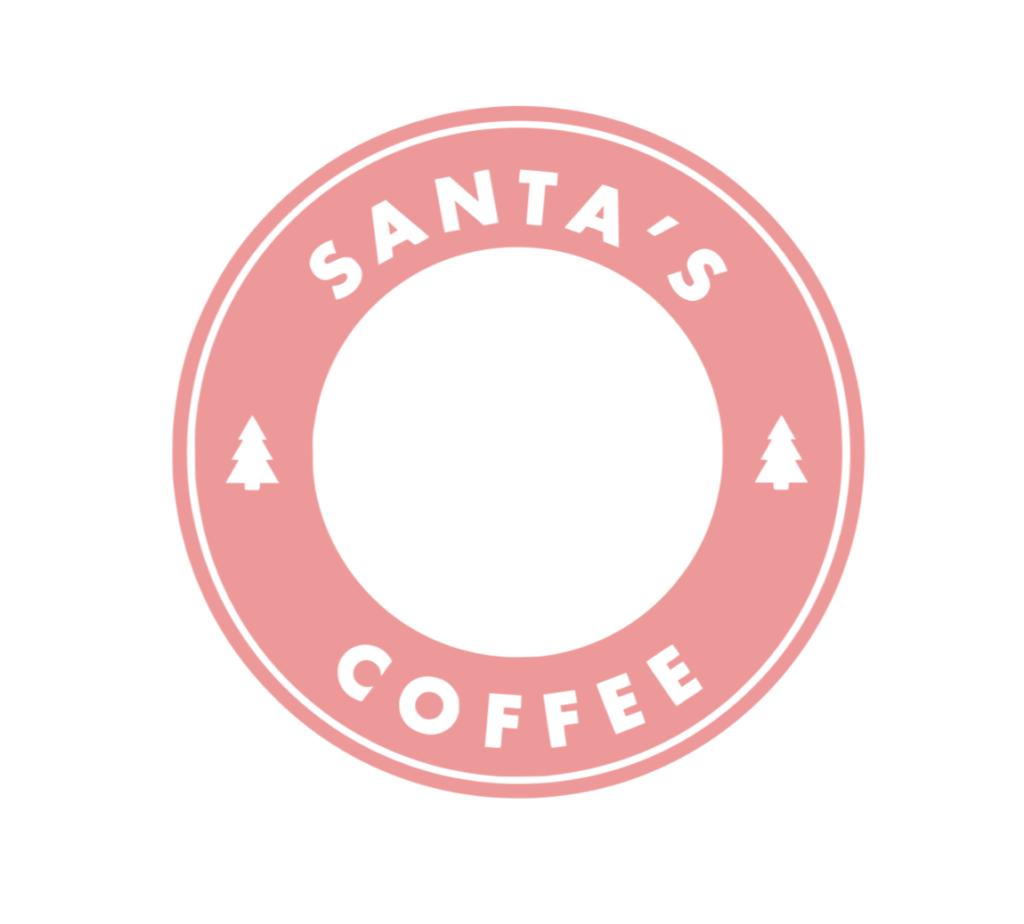 Santa's Coffee Starbucks, Winter theme, Merry, bright