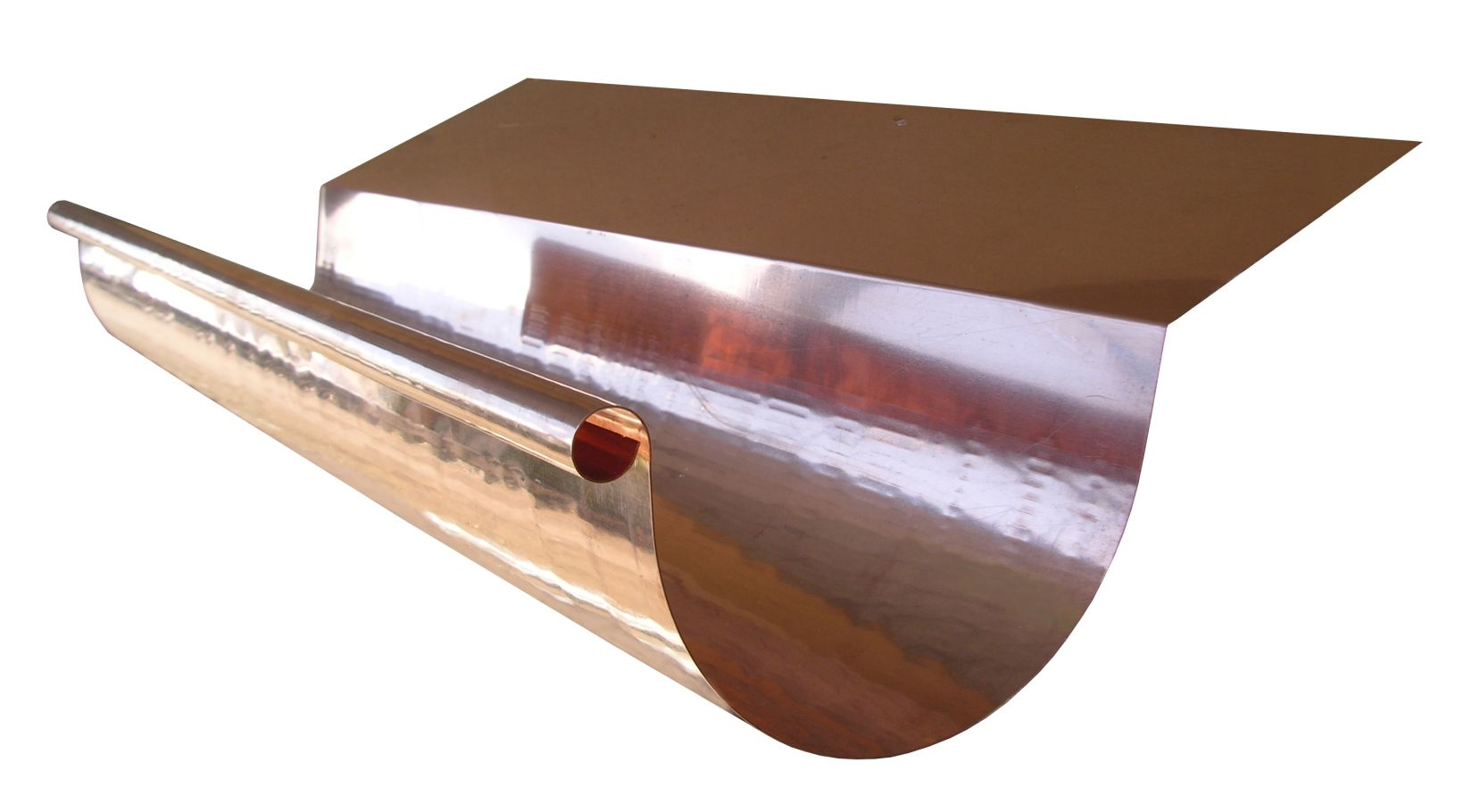 Copper Half Round Highback Gutter Gutter Supply Drip Edge Metal Roof Construction Gutters