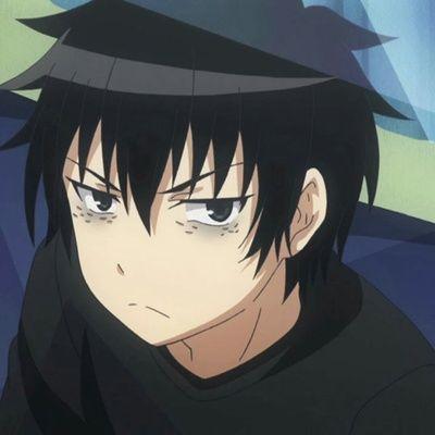 angry anime boy anime