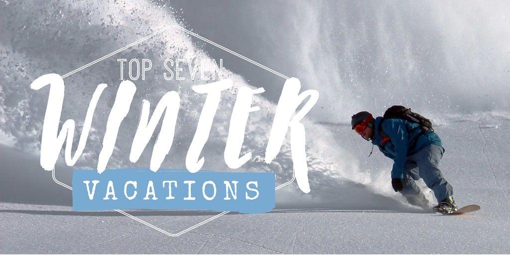 Blog header template - Edit online in Easil: Top seven winter vacations