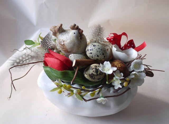 Wielkanocne dekoracje - kwiaciarnia Katowice   Bukiety ślubne Katowice, kwiaciarnia Zielona Oliwka