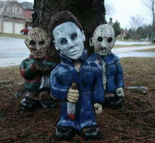 Freddy Jason Michael Horror Movie Gnomes   Outdoor Designs