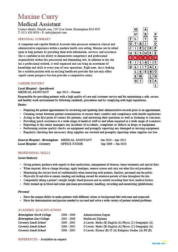 medical assistant resume example sales sample free resumes tips - resume 101