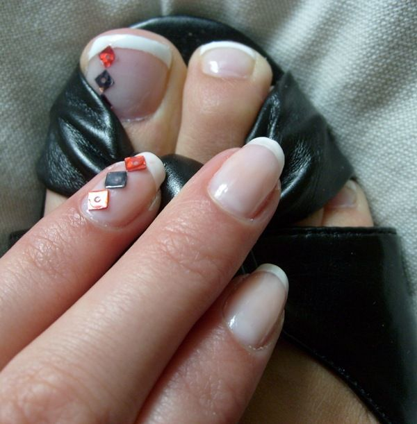 Dimonds Nails : Simple Diamond Nails and Toes Design :: Nail Art ...