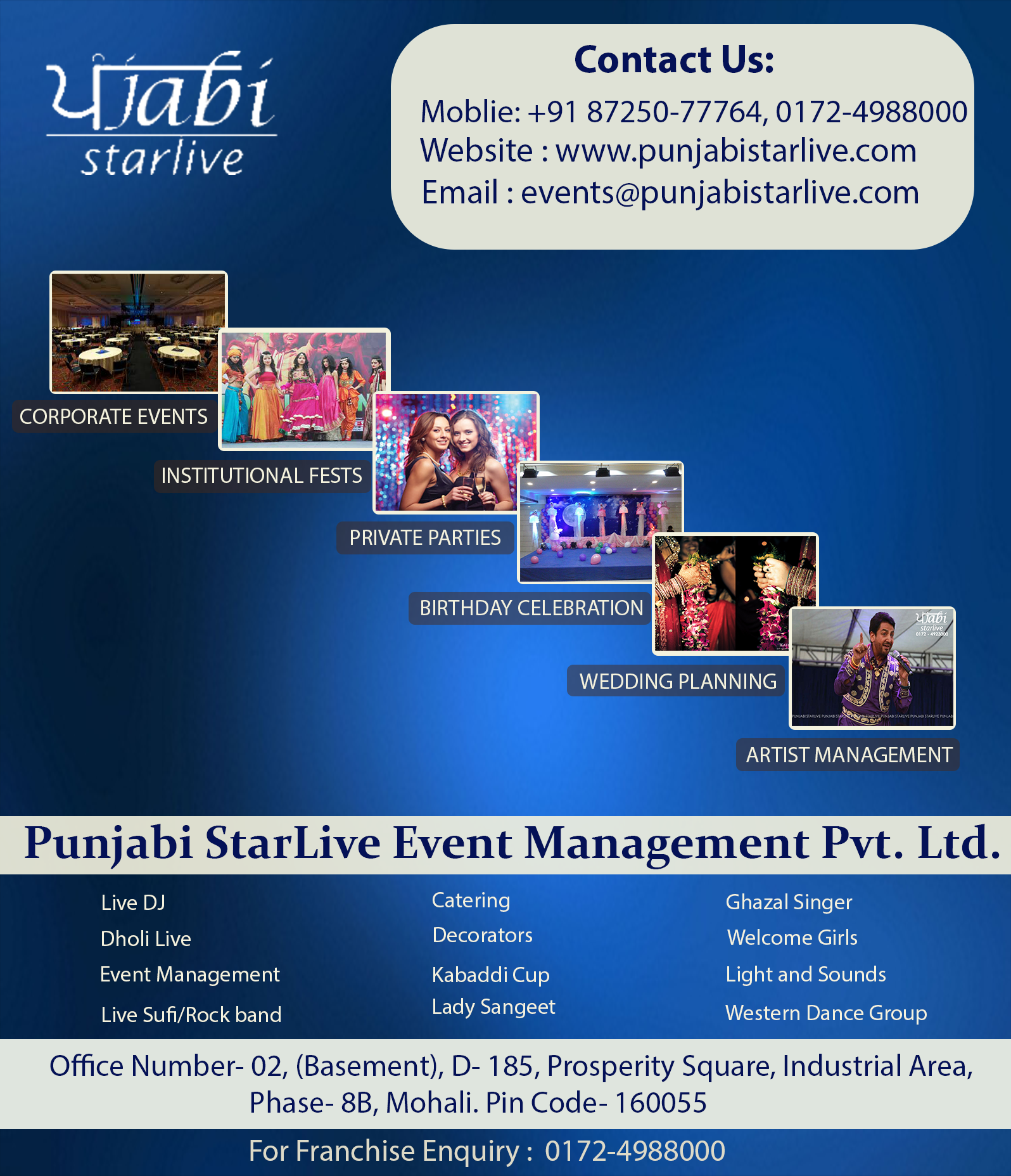 Call 01724988000 now for Get Event Management services in