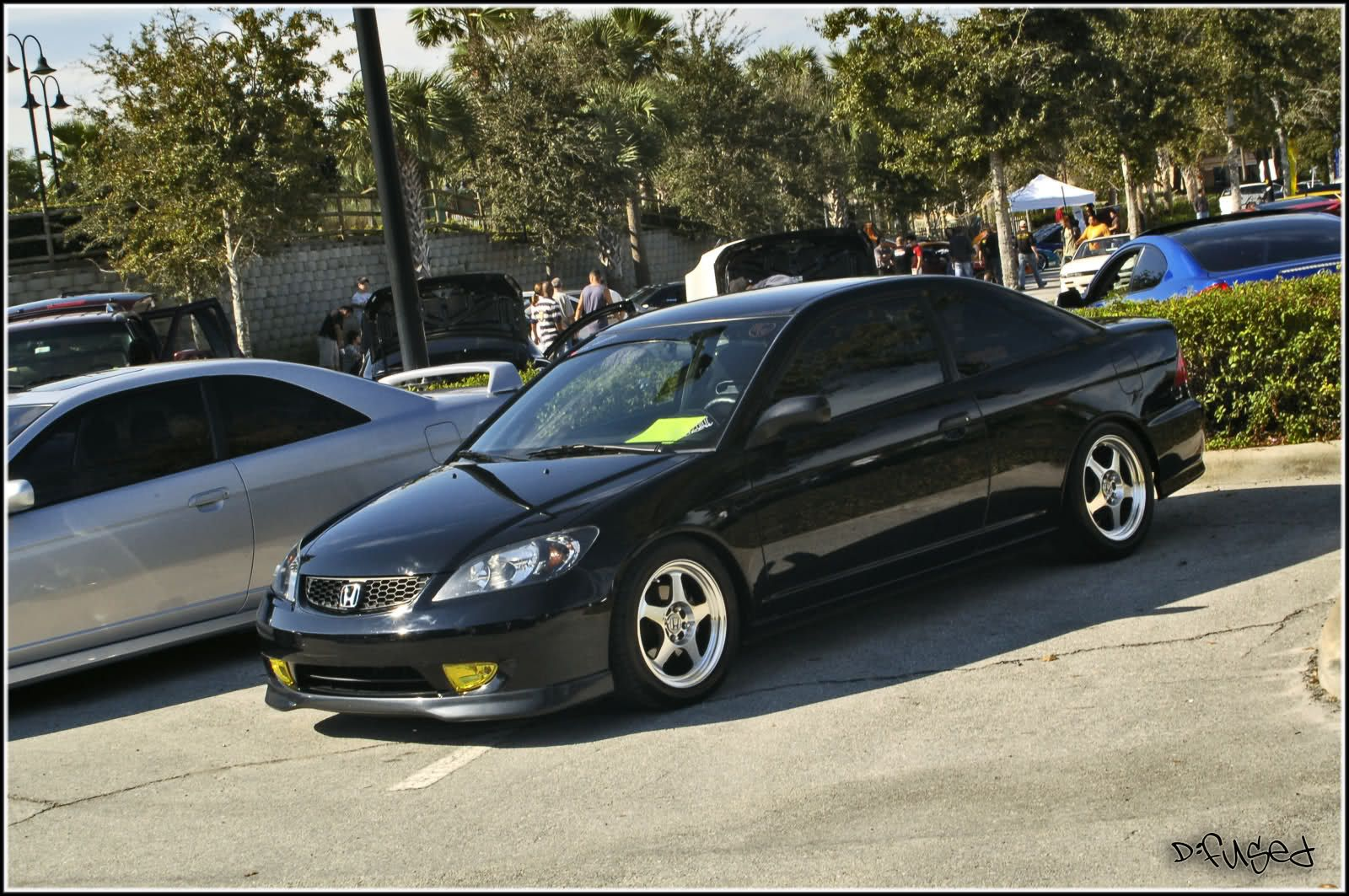 Clean Black 04 05 Civic I Love These Rims Too They Look Great On 96 Civics