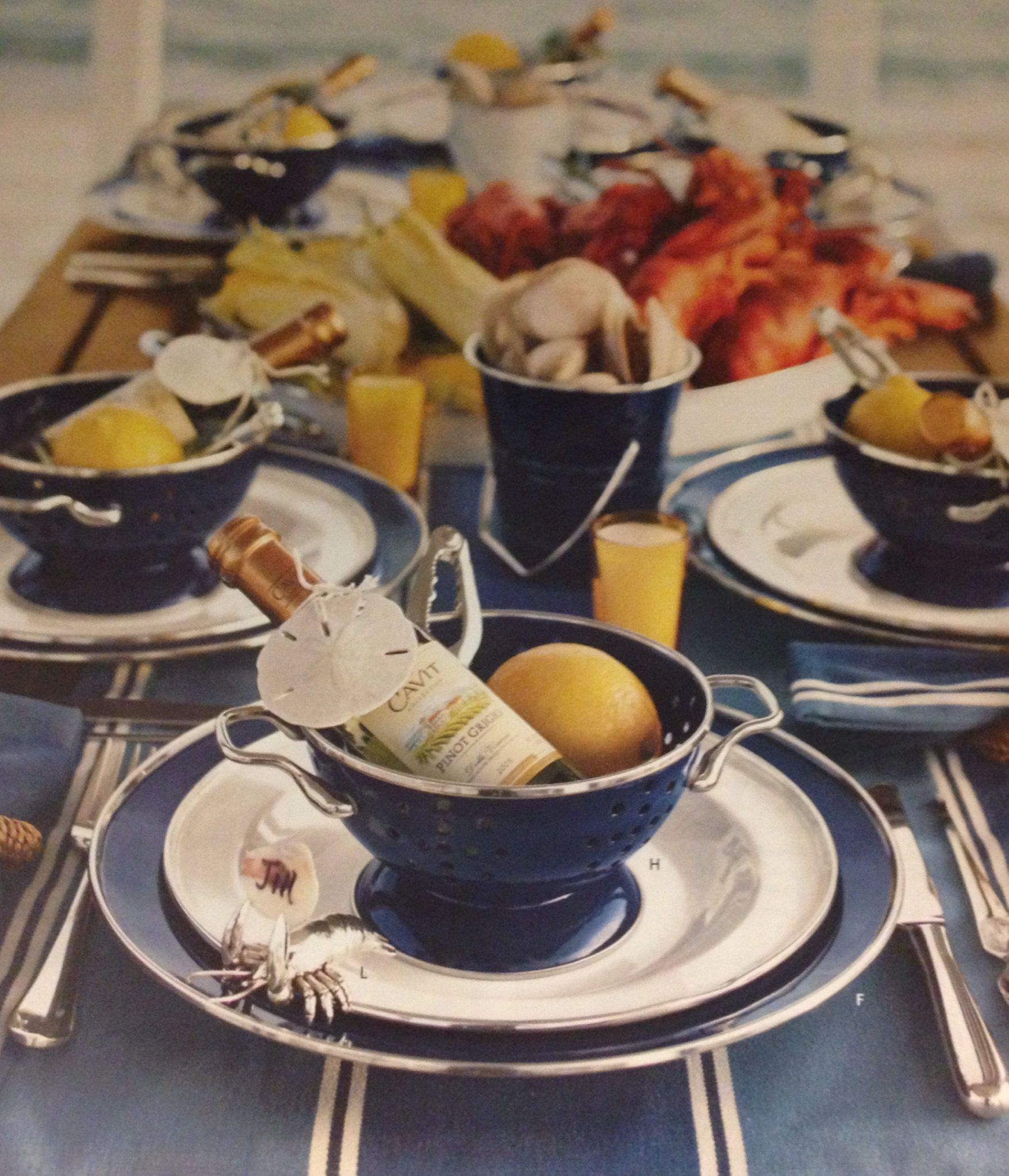 Cute Idea For A Nautical Themed Dinner Party
