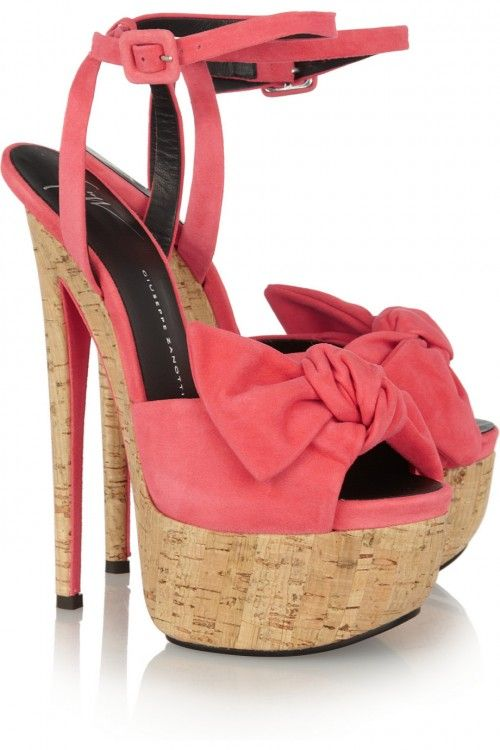 Giuseppe Zanotti Bow-detailed suede sandals