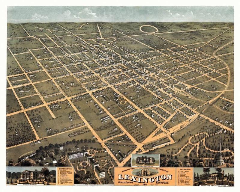 1871 Washington DC Vintage Old Panoramic City Map 24x36