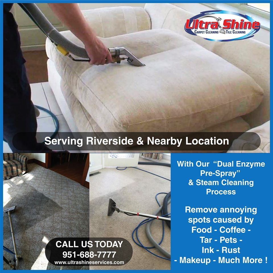 Clean carpets and floors with Ultrashine of Riverside. Remove dirt and stains with our green carpet cleaning solution. Call today! 951-688-7777.  #carpetcleaning #upholsterycleaning #tilegroutcleaning #arearugcleaning #petodorremoval #bestcarpetcleaning #greencleaning #commercialcleaning #naturalstonecleaning #mattresscleaning