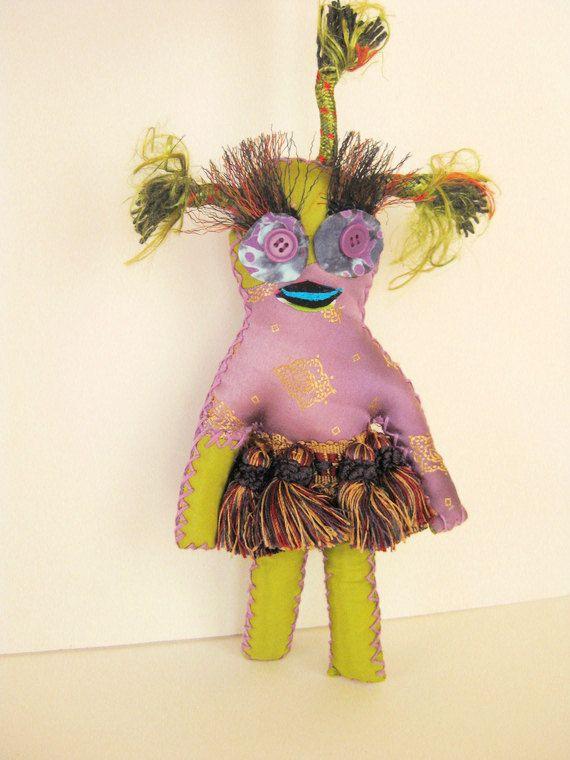 Voo Doo Doll Lucky Ju Ju Purple Doll Tassel Skirt by VooDeDooDolls