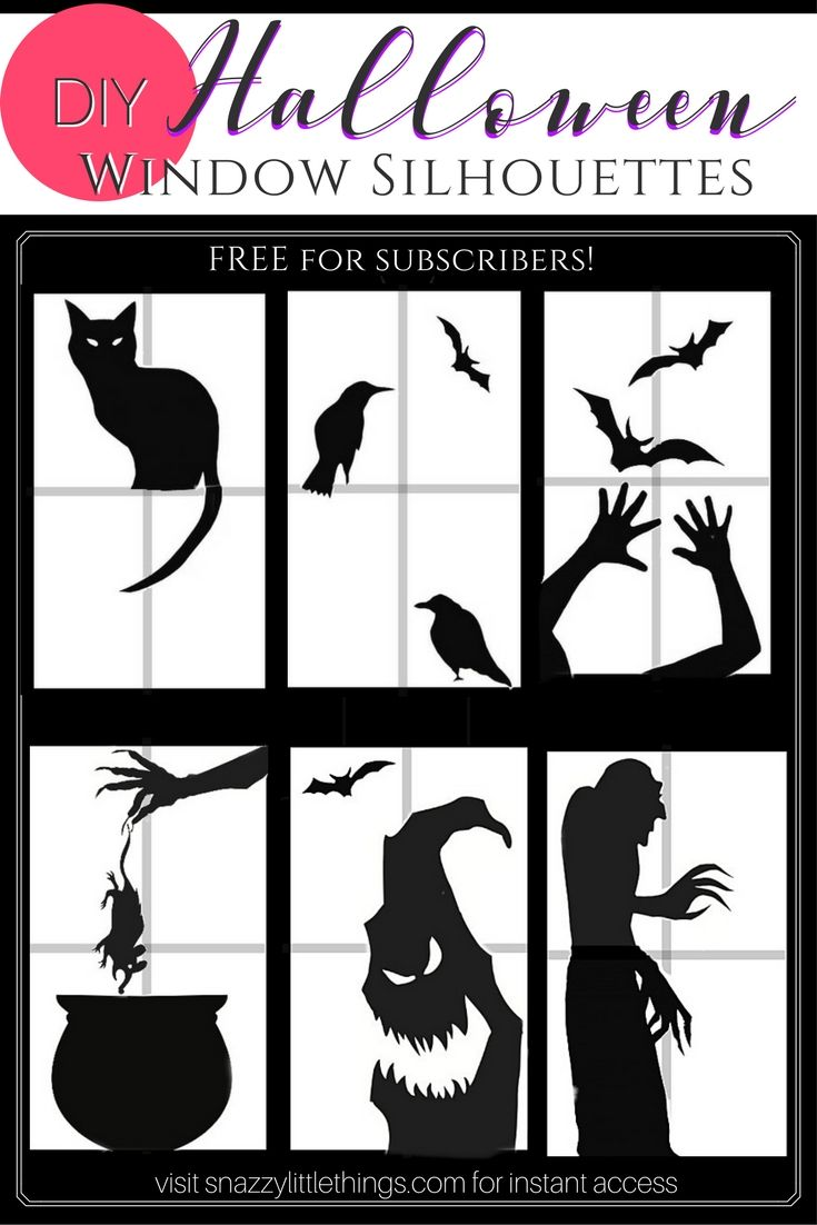 free halloween window silhouettes by snazzy little things