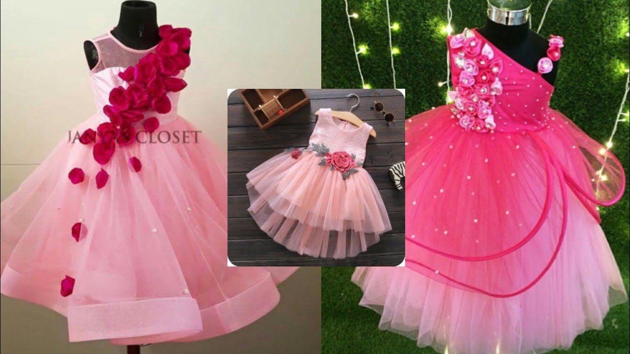 Frill frock for girls/birthday dresses for kids/flower