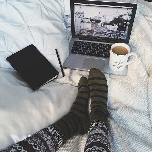 """""""No idea where you lovely new followers came from, but hi and hopefully you enjoy my totally matching pajama situation #saturday #marshmallowbed #allthecoffee"""" Photo taken by @truelane on Instagram, pinned via the InstaPin iOS App! http://www.instapinapp.com (01/25/2015)"""