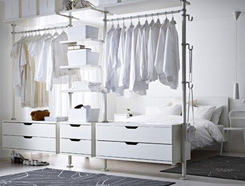 Vous souhaitez créer un dressing dans une chambre et avec un petit