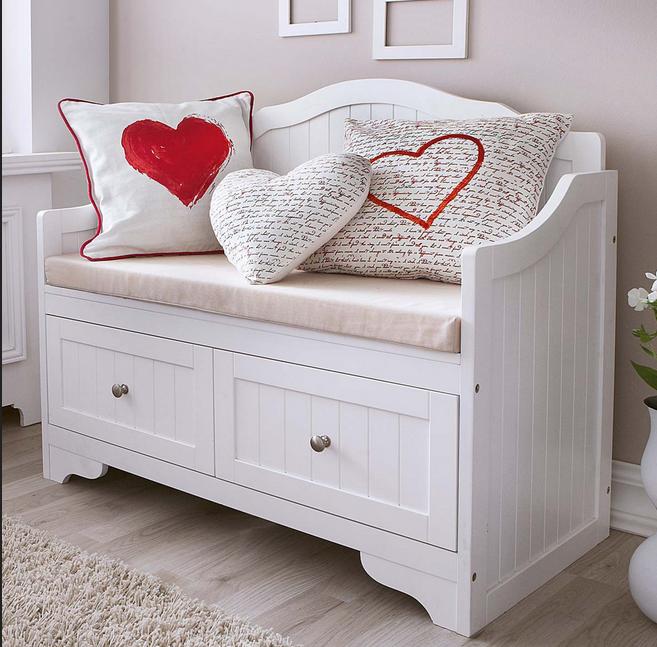 Bank Schlafzimmer Stuhl Betten Mit Kissen Liebe Motive