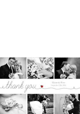 Wedding Thank You Cards W Photos From Your Day Personalized Message Optimalprint Us