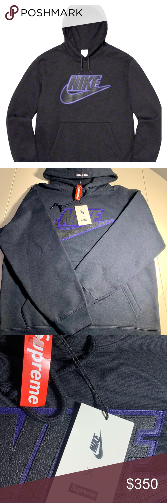 Supreme Nike Leather Applique Hooded Sweatshirt M Best Christmas Present Real Leather Nike Applique In Front Nike Leather Applique Sweatshirt Sweatshirts [ 1740 x 580 Pixel ]