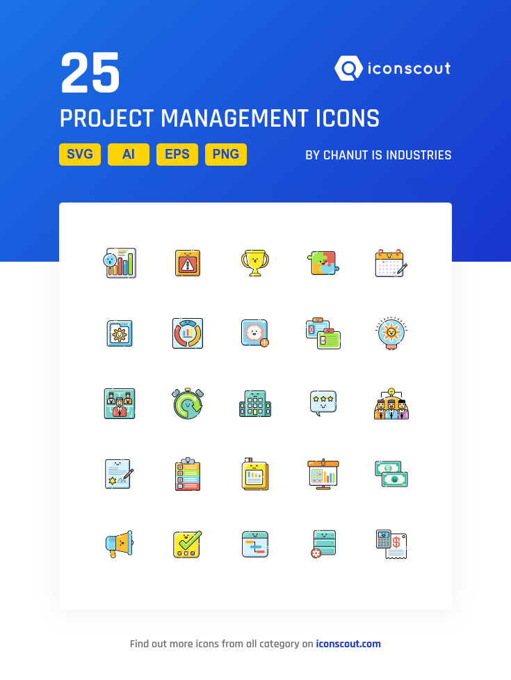 Download Project Management Icon pack Available in SVG