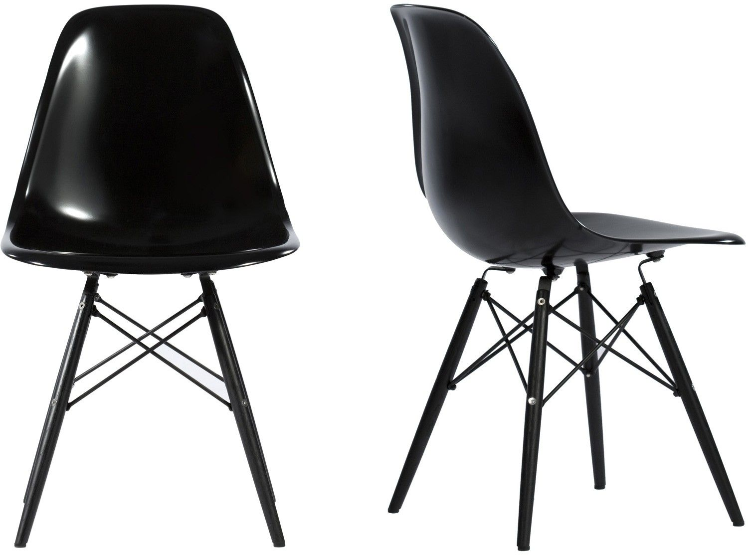 Platinum Replica Eames DSW Chair (Dining Side Wood) In Multi Coated  Fibreglass